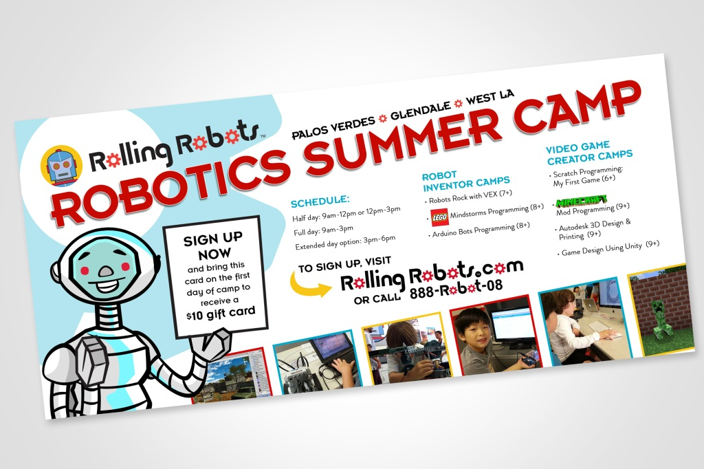 Rolling Robots Summer Camp Flyer – Kabahead Kreations